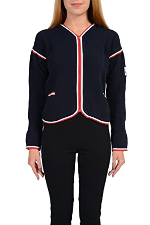 92626faa7f29 Moncler Gamme Bleu Women s Full Zip Knitted Cardigan Sweater Jacket ...