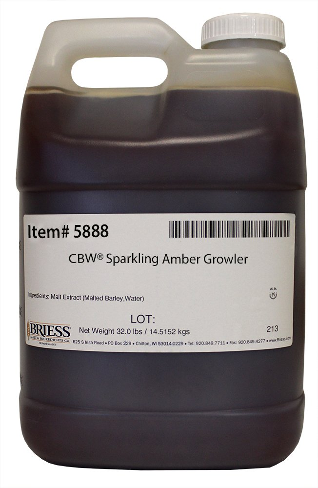 Briess 5888 Liquid Malt Extract 32 lb Growler, Sparkling Amber