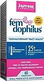 Jarrow Formulas Shelf-Stable Fem-Dophilus, 1 Billion Organisms Per Capsule, Supports Vaginal and Urinary Tract Health, 60 Capsules