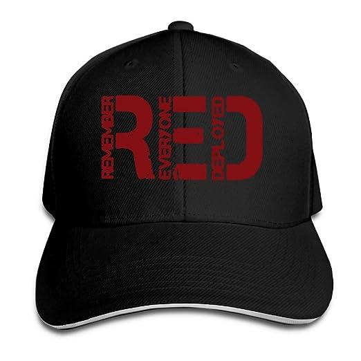 cf10863f WHW45HAT Men's Women's Custom RED - Remember Everyone Deployed Trucker Hats  Adjustable Plain Baseball Cap