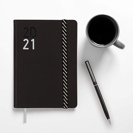 Finocam - Agenda Curso 2020-2021 M4-118 x 168 Semana Vista Apaisada Natural Croma Negro Catalán: Amazon.es: Oficina y papelería
