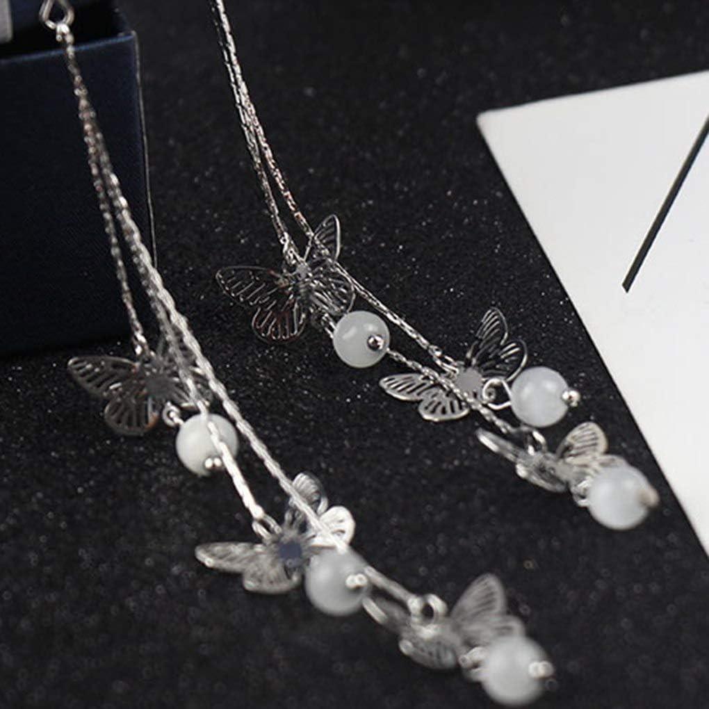 Lorsoul 1 Paire de Boh/ême Vintage Longue Goutte Tassel Boucles doreilles en m/étal Femmes /évider Papillon Oreille Goujons Fille Boucles doreilles de Bal