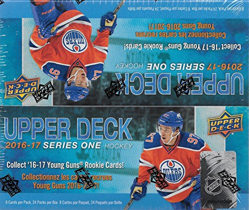 2016-2017-upper-deck-nhl-hockey-series-one-factory-sealed-unopened-retail-box-of-24-packs-with-192-c