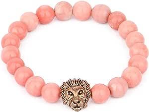 Bracelet Head Tiger for Men, Pink