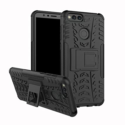 Huawei Honor 7X Case, Huawei Mate SE Case, Linkertech [Shockproof] Tough Rugged Dual Layer Protector Hybrid Case Cover with Kickstand for Huawei Honor ...