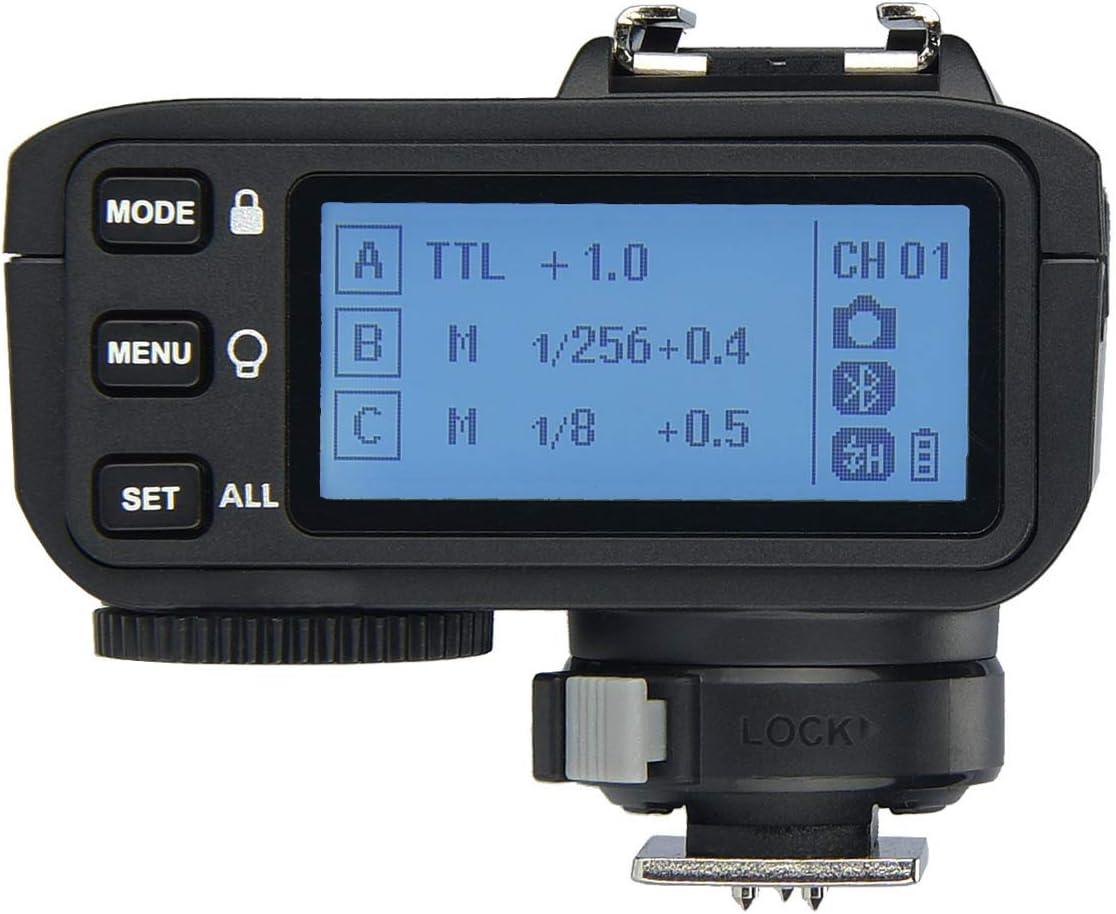 Godox V1-N I-TTL Camera Flash Speedlite 76WS GN92 2.4G High-Speed Sync 1//8000s 2600mAh Li-ion Battery Round Head Speedlight with X2T-N Wireless Trigger Transmitter Compatible for Nikon Cameras