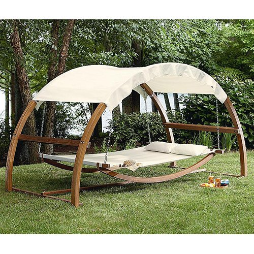Outdoor Patio Arch Swing. This Patio Swing Is Made of Sturdy Wood. Guaranteed to Wow, Patio Swings Are a Great Way to Spend Time with Friends and Family. This Patio Swing Is an Attractive Addition to Any Patio Furniture or Outdoor Furniture Collection.