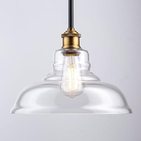 Lucera Contemporary Kitchen Pendant Light   Antique Brass Hanging Fixture    Linea Di Liara LL
