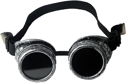 Vintage Victorian Steampunk Goggles Welding Cyber Punk Gothic Cosplay Glasses