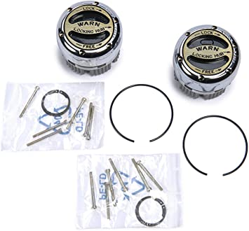 Manual Locking Hub Set for 1976-2004 Chevy Dodge and Ford trucks.