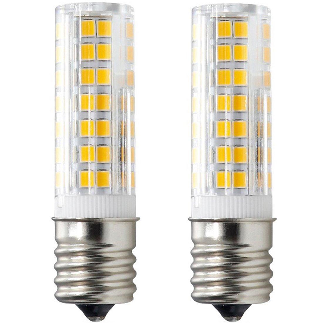 XRZT E17 LED Bulb for Microwave Oven Over Stove Appliance, 6 Watt(60W Halogen Bulbs Equivalent), 110-120V, Intermediate Base, Dimmable, 2-Pack (Warm White)