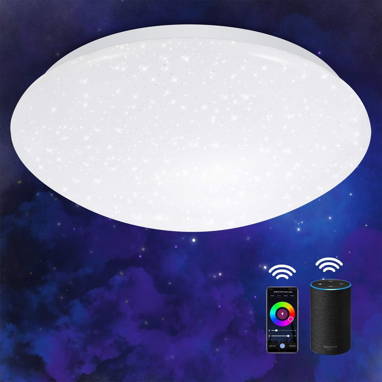 OPPEARL 40W 3600LM Sternenhimmel LED Deckenleuchte Dimmbar Rund Leuchte mit Fernbedinung f/ür Bad Schlafzimmer B/üro Esszimmer K/üche Balkon LED Deckenlampe Farbwechsel 3000K-6500K
