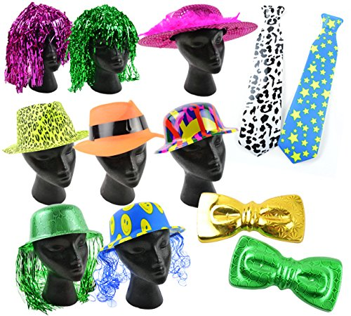 Touch of Nature 12-Piece Photo Booth Prop Kit, Assorted Colors