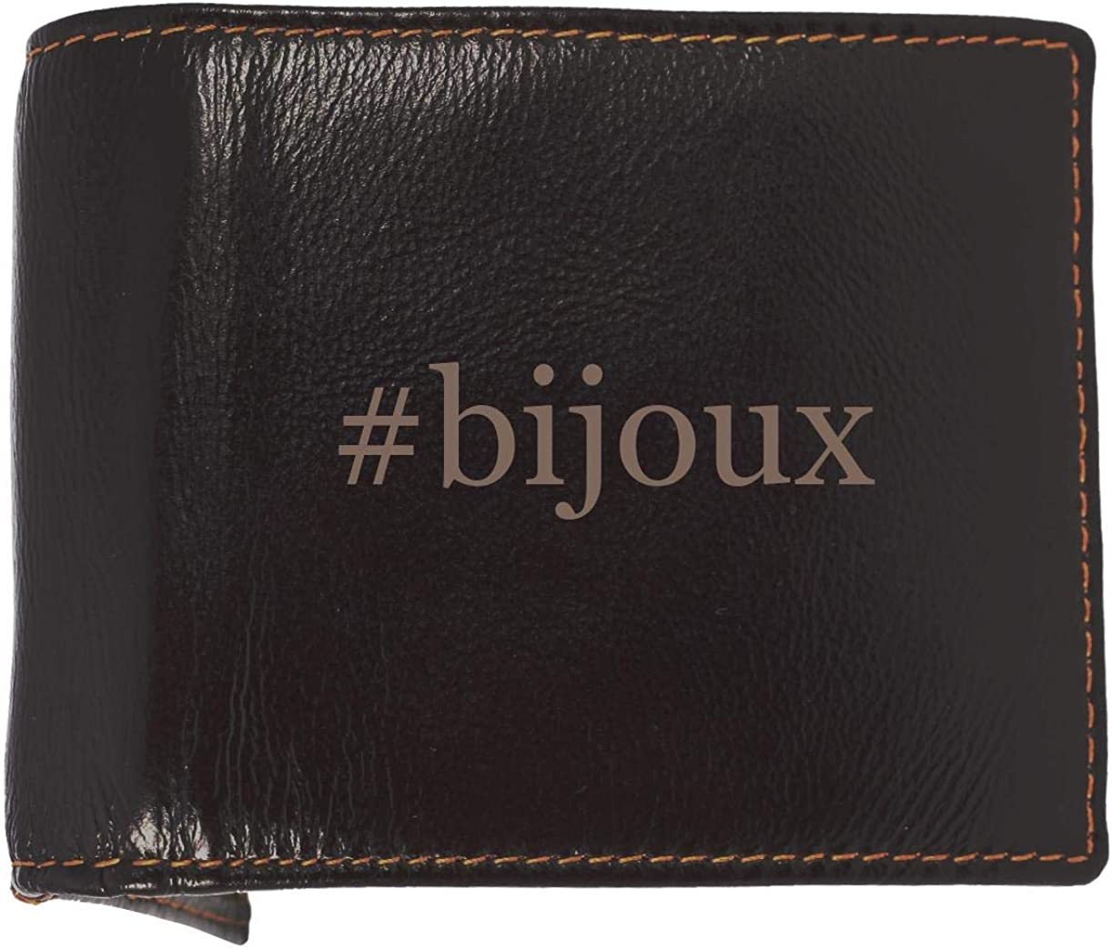 #bijoux - Soft Hashtag Cowhide Genuine Engraved Bifold Leather Wallet 61eYG2BT2B2zL