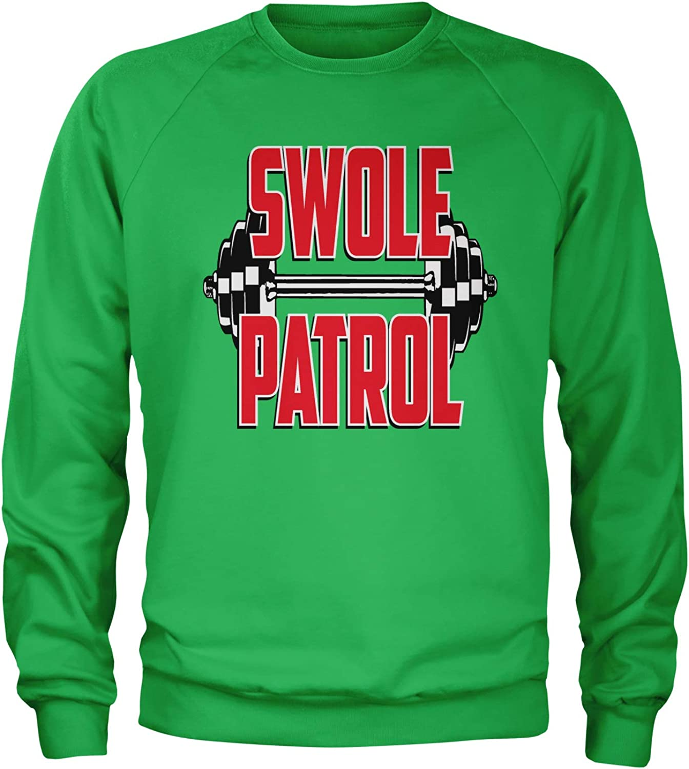Expression Tees Swole Patrol Weight Lifting Crewneck Sweatshirt