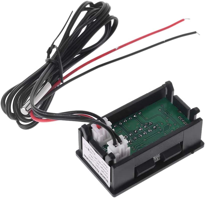 24V Pantalla LED Indicador de Voltaje del Coche y Temperatura del Agua Volt/ímetro Term/ómetro Term/ómetro a Bordo guangzhou 12V