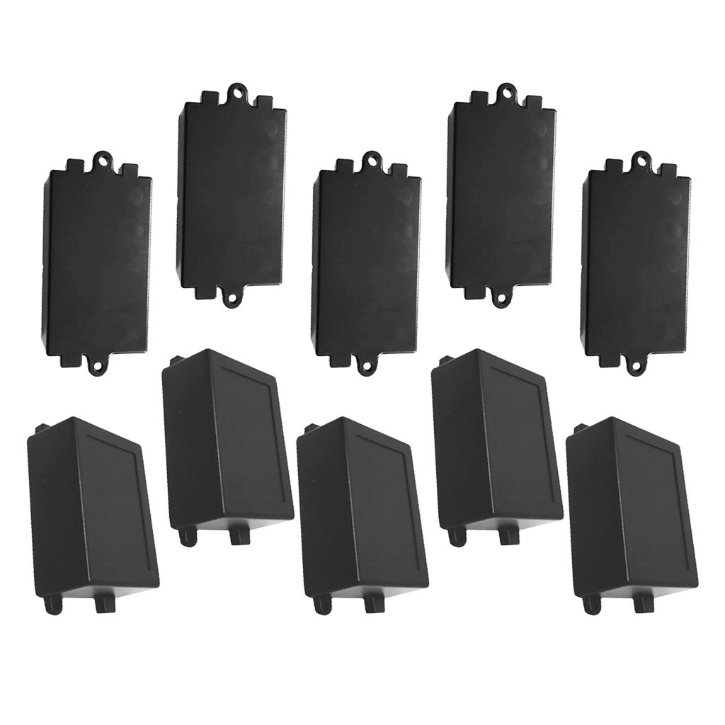 Baoblaze 10pcs Electronic Prototype ABS Plastic Junction Project Box Enclosure (5 Small + 5 Large)
