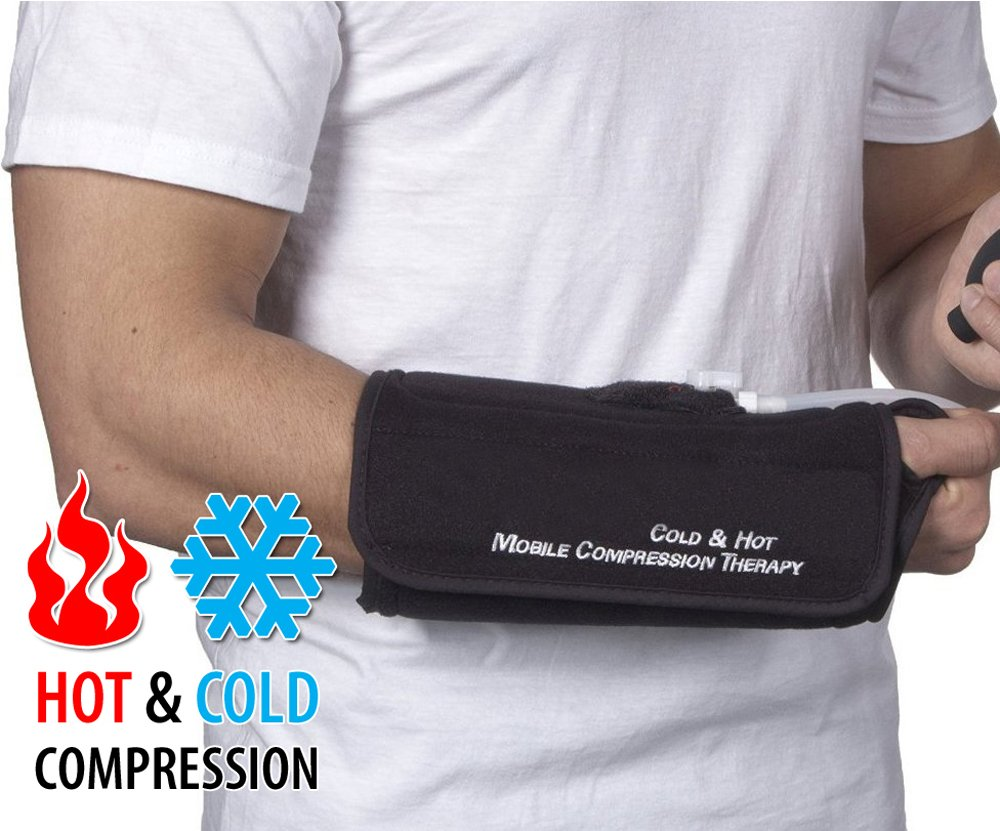 NatraCure Hot/Cold & Air Compression Wrist Brace Support - (6002 CAT) - Alleviates Pain from Sprains, Strains, Tendonitis, Arthritis, and Carpal Tunnel by NatraCure