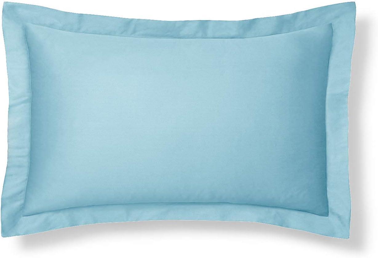 Harmony Lane Classic Tailored Pillow Sham - Porcelain Blue, King Size Pillow Shams