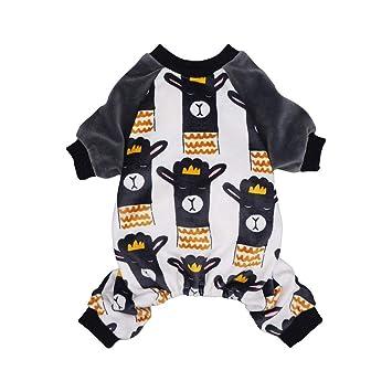 Amazon.com: Fitwarm Lama - Pijama para perro, gato, color ...