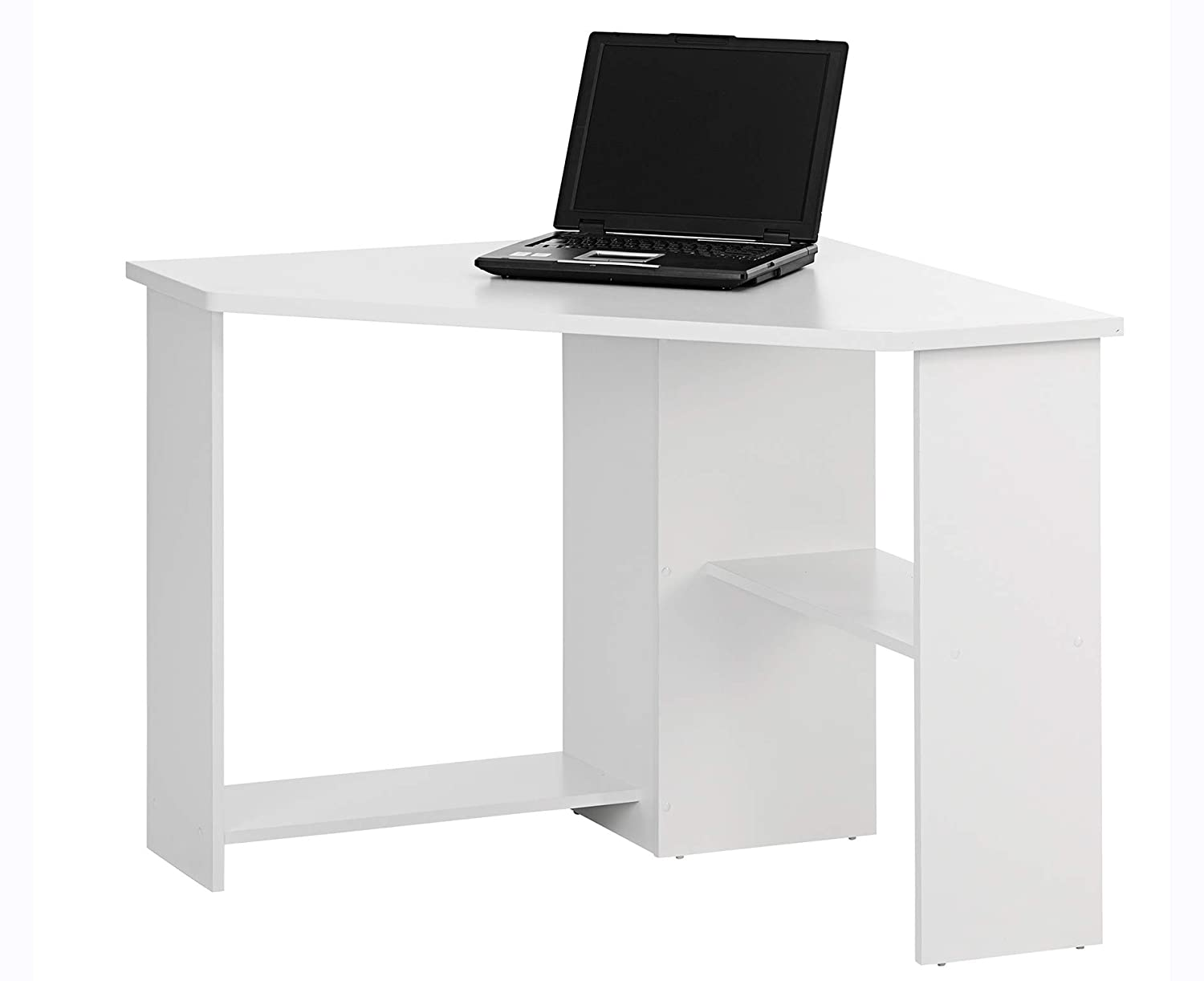 Bray corner home office desk color white finish amazon co uk kitchen home