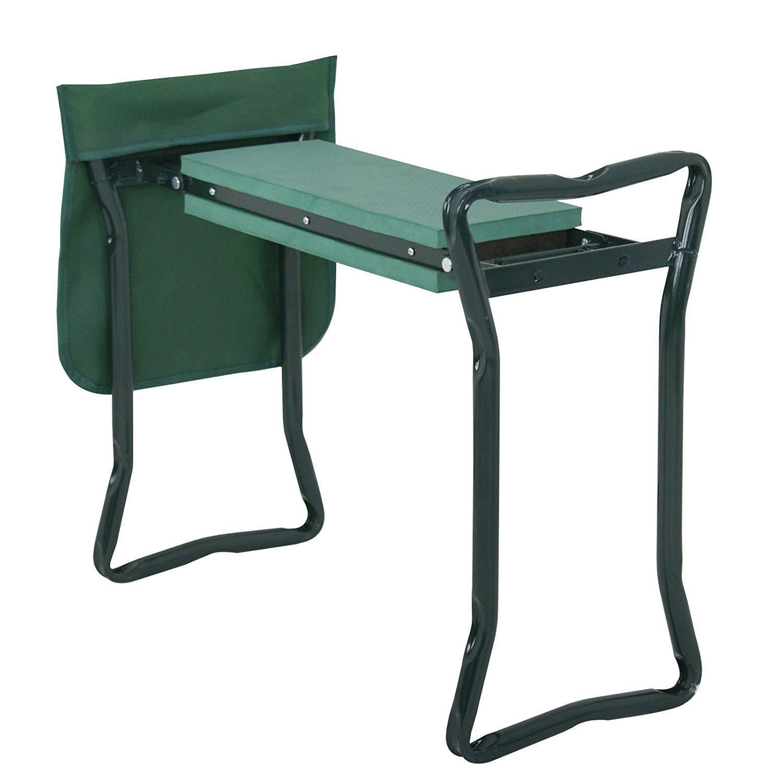 BBBuy Folding Garden Kneeler Bench Stool Kneeling Seat Bench Stool Portable Gardener Kneeler Seat with Bonus Tool Pouches, EVA Foam Pad