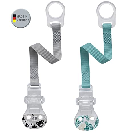 Nip Chupete banda con anillo//de 2 unidades Boy//comodidad de cierre para todos los Chupete sin anillo//Nuevo anillo de fijación de silicona ...