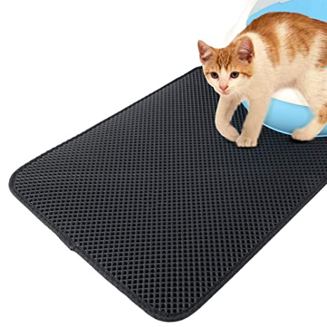 SQUAREDO - Arenero para Gatos, Impermeable, Doble Capa, diseño de Panal de Abeja