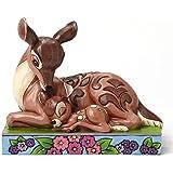 Disney Traditions 4049640 Figurine Dors Tranquille Jeune Prince Bambi et Sa Mère Figurine Multicolore 11 cm