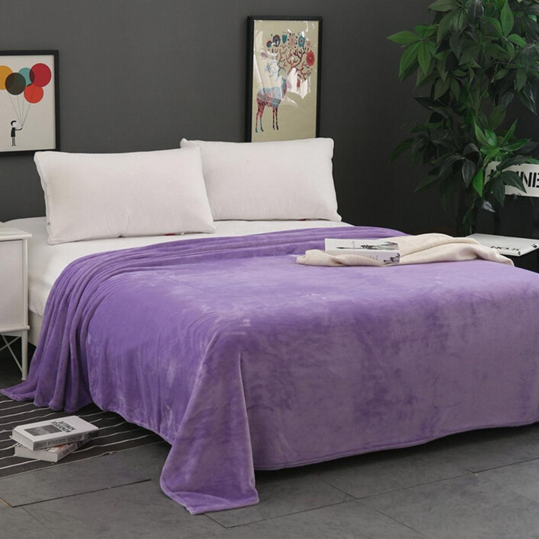 squarex cuadrado suave y c/álida s/ólidos micro felpa manta de forro polar manta c/álida alfombra sof/á cama infantil conejo tejer manta A:50X70CM beige
