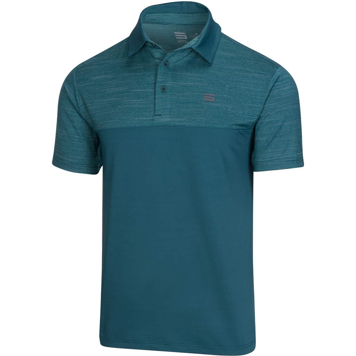 Three Sixty Six Dri-Fit Golf Shirts for Men - Moisture Wicking Short-Sleeve Polo Shirt Green Teal by Three Sixty Six