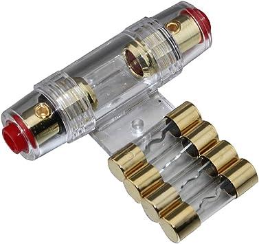 Baoblaze 4 8 Gauge Agu Sicherungshalter Mit 40a Kfz Audio Tragbarer Sicherung Auto
