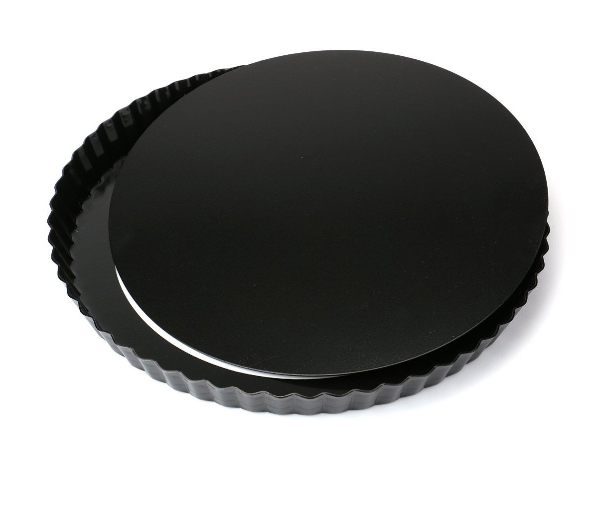 Tosnail Nonstick 11 Inch Quiche Pan, Tart Pie Pan with Removable Loose Bottom by Tosnail