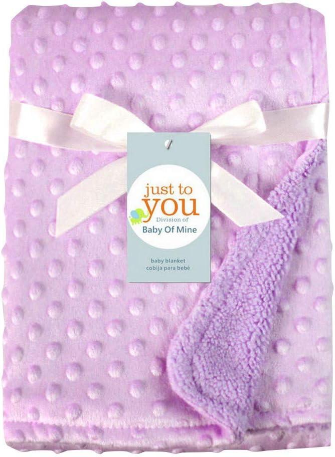 Manta para bebés recién nacidos y envoltura térmica Manta de felpa suave edredón de cama Morado talla única
