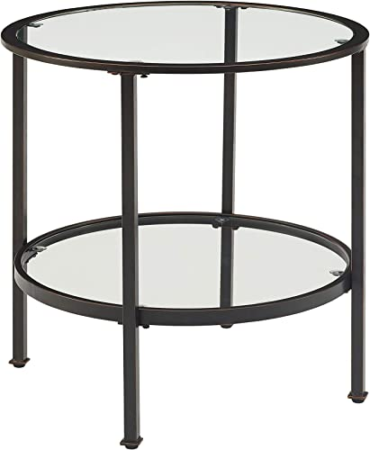 Crosley Furniture Aimee Round Glass End Table