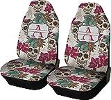 Sugar Skulls & Flowers Custom Car Seat Covers (Set of Two)