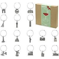 Wine Glass Charms Markers Tags Identification,Wine Charms for Stem Glasses,Wine Bachelorette Tasting Party Favors…
