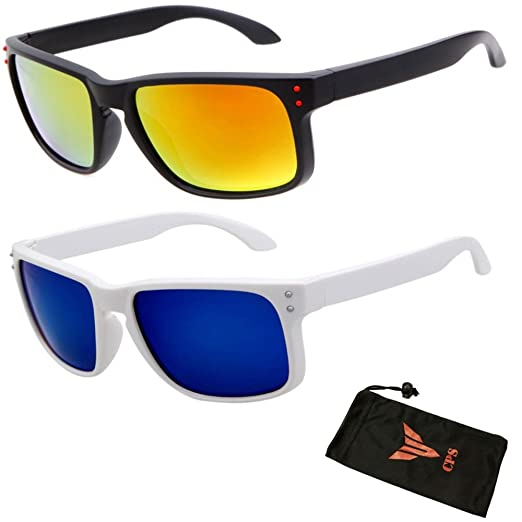 b2b290c16c 2 Pairs POLARIZED LENSES Flat Large Sport Casual Driving Outdoor Men  Sunglasses