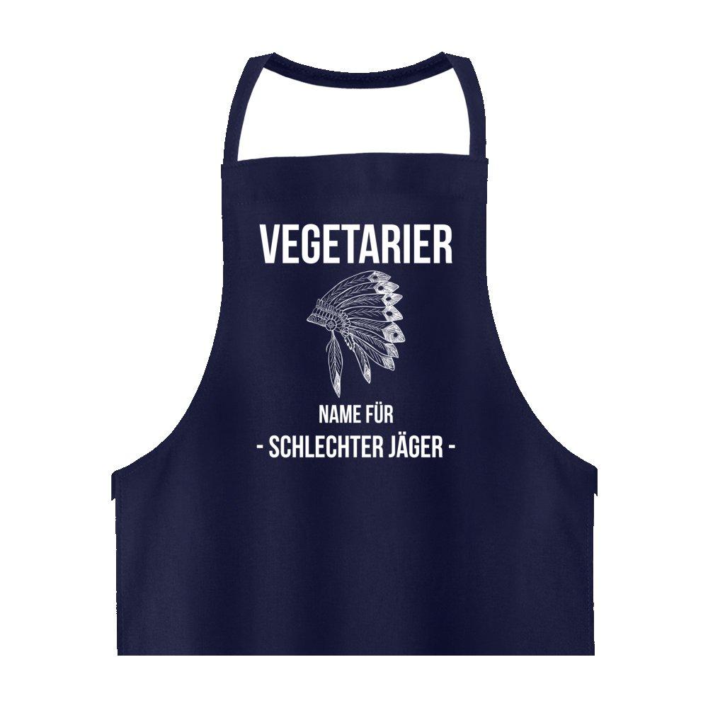 vegetarianos, nombre para malos Cazadores Indios Delantal en azul oscuro - - divertido BBQ accesorios - Regalo perfecto Idea - Acabado de Alta Calidad: ...