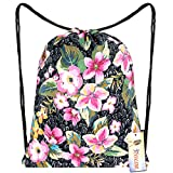iColor Drawstring Sackpack Backpack Gift Gym Bag Daypack for Women Teen Kids