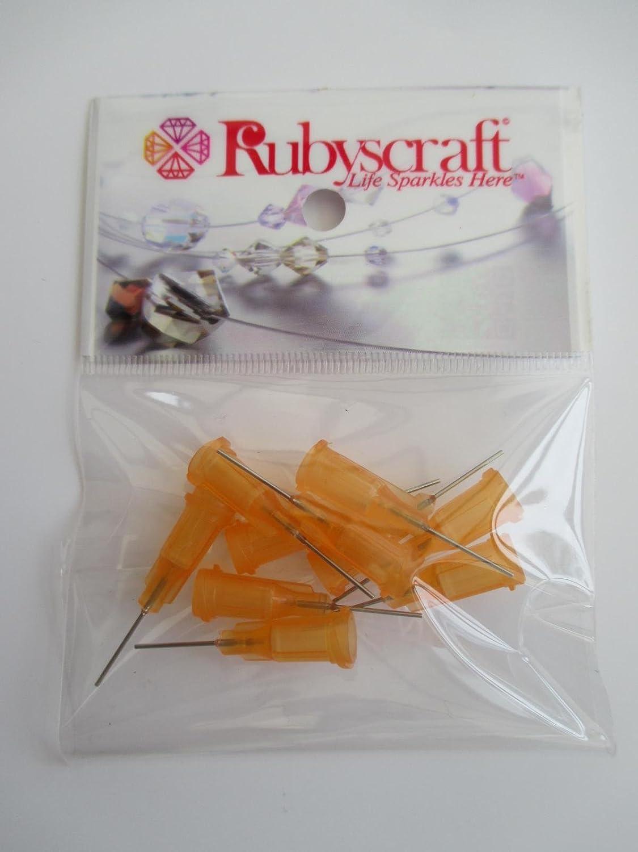 10pcs Orange 23g 0.5inch Lock tip Nozzle for Luer Lock Syringe Craft Glue glaze Ideal for E6000 Bling my shoes Trademark UK00003085705