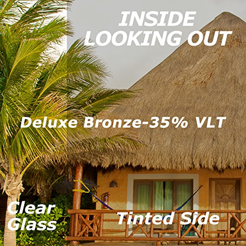 Deluxe Bronze Window Tinting Film 35% VLT 48 Inch x 50 Feet by WindowTint