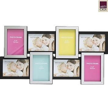 Bakaji - Portafotos con marco para 8 fotos de 10 x 15 cm (tamaño ...