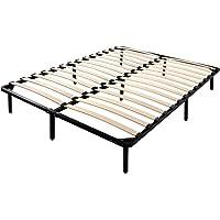 Artiss Queen Metal Bed Frame Black Platform Bed Base