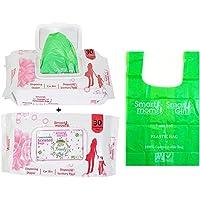 Lifekrafts Smart mom Scented compostable Bags Bio degradable and eco Friendly |disposing Diapers,car bin,disposing Sanitary Pads,Trash Bags|Pack of 60 Bags |