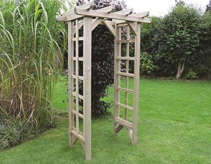 Arco de jardín de madera – Madera Sólida al aire libre muebles de jardín: Amazon.es: Jardín