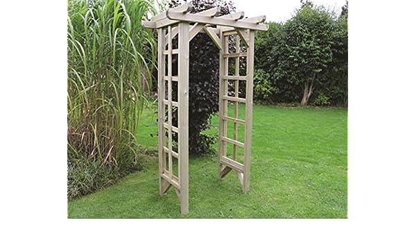 Arco de jardín de madera – Madera Sólida al aire libre muebles de ...