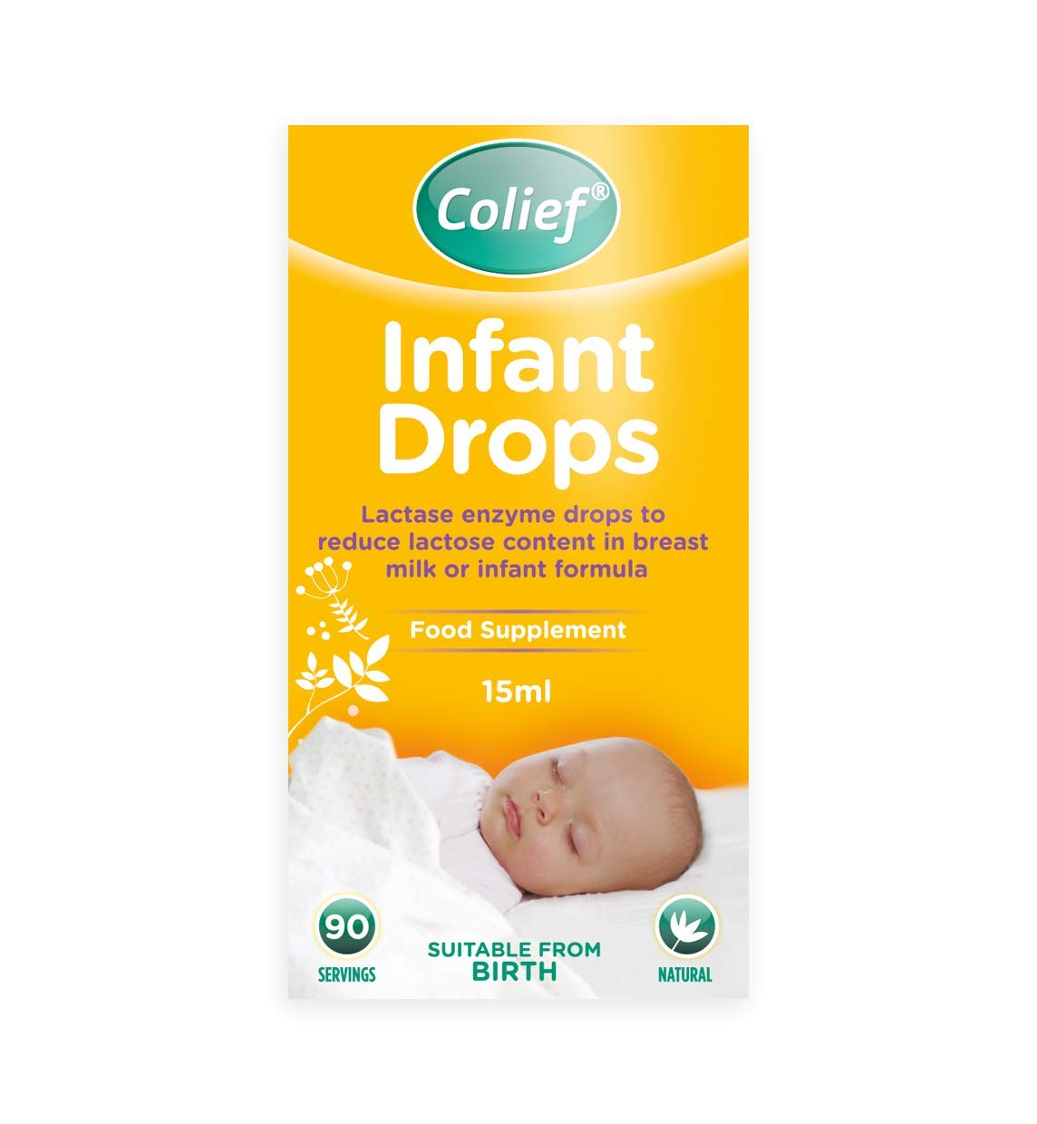 Colief Infant Drops   Lactase Enzyme Drops   Natural Colic Relief for Babies   Reduces Bloating, Wind and Crying  15ml
