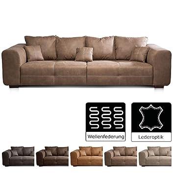 Cavadore Big Sofa Mavericco Braune Couch Im Modernen Design In