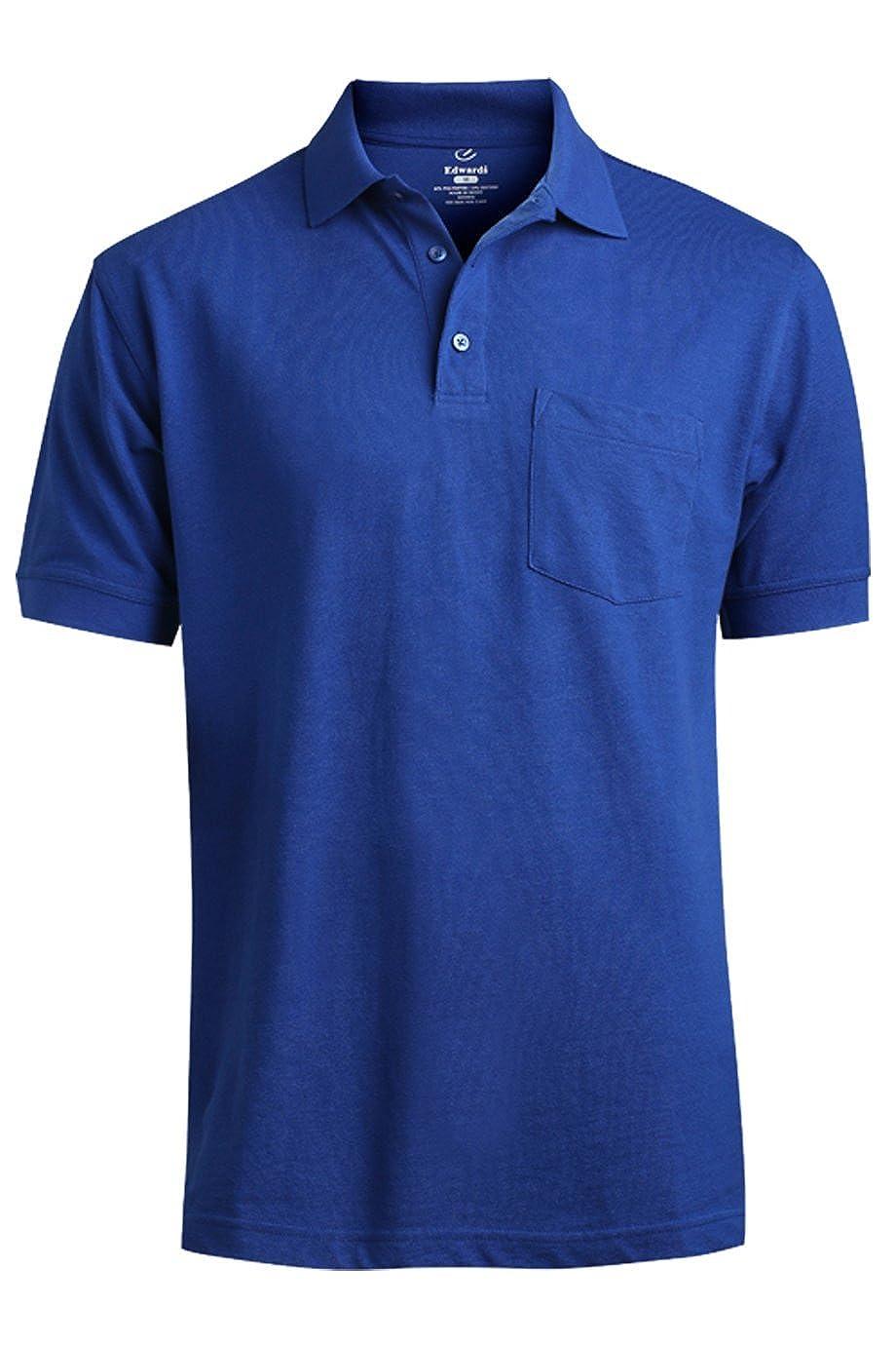 Edwards Garment Big And Tall Short Sleeve Pique Pocket Shirt/_ROYAL